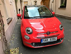 Car rental Fiat 500 in Prague
