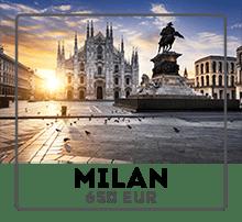 Car rental from Prague to Milan
