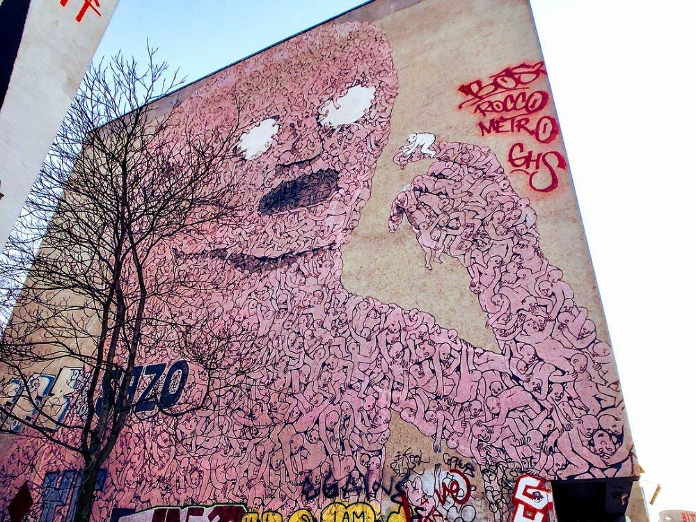 Берлинский стрит-арт из Праги