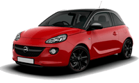 Rental car opel adam in Prague
